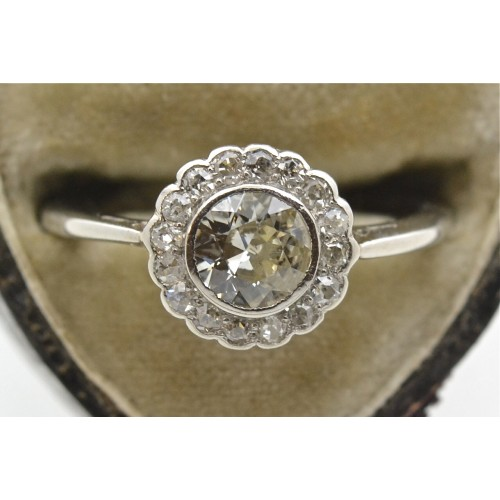 Antique Daisy Cluster Diamond Ring Rings
