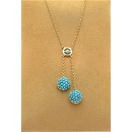 ANTIQUE DOUBLE DROP TURQUOISE PENDANT