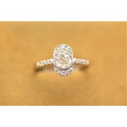 VICTORIAN OLD CUT DIAMOND CLUSTER RING