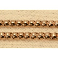 ANTIQUE 9CT GOLD ROLLER LINK CHAIN