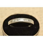 PLATINUM HALF BAND ETERNITY RING