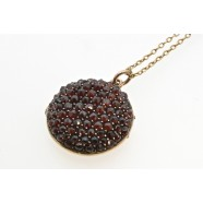 ANTIQUE GARNET SET LOCKET