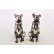 SILVER SALT AND PEPPER MICE