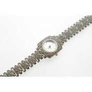 MARCASITE AND SILVER WRIST WATCH