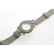 STERLING SILVER AND MARCASITE WATCH