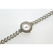MARCASITE AND SILVER WATCH