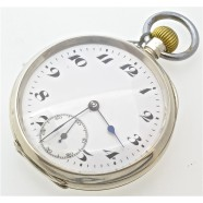 ANTIQUE SOLID SILVER POCKET WATCH