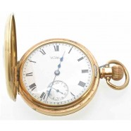 ANTIQUE DEMI-HUNTER POCKET WATCH