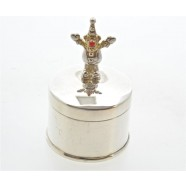 SOLID SILVER TOOTH BOX WITH CLOWN