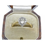ANTIQUE VICTORIAN PEAR SHAPED CLUSTER RING