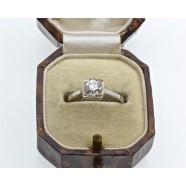 ANTIQUE SOLITAIRE DIAMOND RING