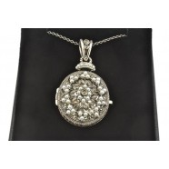 MARCASITE  AND SEED PEARL LOCKET