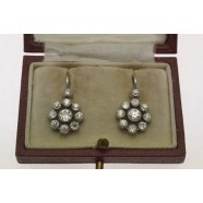 DIAMOND DAISY CLUSTER EARRINGS