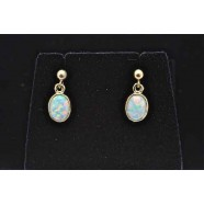 GOLD OPAL DROP EARRINGS