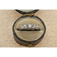 PLATINUM DIAMOND FIVE STONE RING