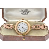 ANTIQUE 9CT ROSE GOLD LADIES WRIST WATCH