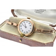 ANTIQUE LADIES WATCH WITH ROLEX CASE