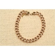 ANTIQUE 9CT ROSE GOLD CURB BRACELET