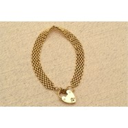 ANTIQUE 15CT GOLD GATE BRACELET