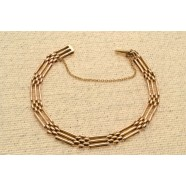 ANTIQUE 15CT GOLD GATE LINK BRACELET