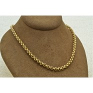 9ct GOLD BELL LINK CHAIN