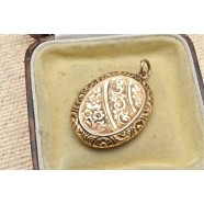 ANTIQUE 9CT ROSE GOLD LOCKET