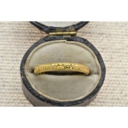 ANTIQUE 9CT GOLD WEDDING BAND