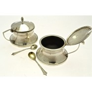 SILVER FOUR PIECE CRUET SET