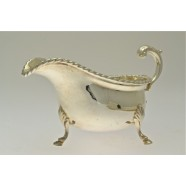 ANTIQUE SILVER SAUCE BOAT