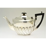 ANTIQUE SILVER TEA POT