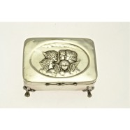 "ANTIQUE SILVER ""CHERUB ""JEWEL BOX"