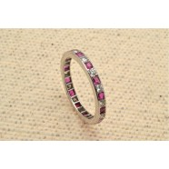 DIAMOND AND RUBY FULL BANDED ETERNITY RING