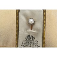ANTIQUE PEARL AND DIAMOND TIE PIN