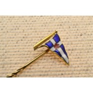 ANTIQUE ENAMELED TIE PIN