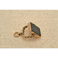 ANTIQUE GOLD SET DOUBLE FOB