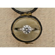 DIAMOND SINGLE STONE RING 2.08 CTS