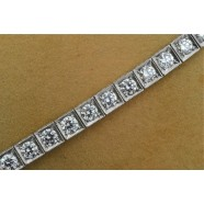 ANTIQUE PLATINUM DIAMOND SET BRACELET