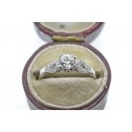 ANTIQUE SINGLE STONE DIAMOND RING