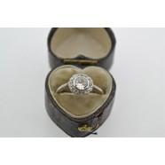 ANTIQUE DAISY CLUSTER DIAMOND RING