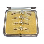 ANTIQUE FOUR PIECE BROOCH SET