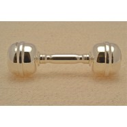 SOLID SILVER BABY RATTLE